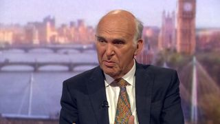 Lib Dem Sir Vince Cable on the Andrew Marr show