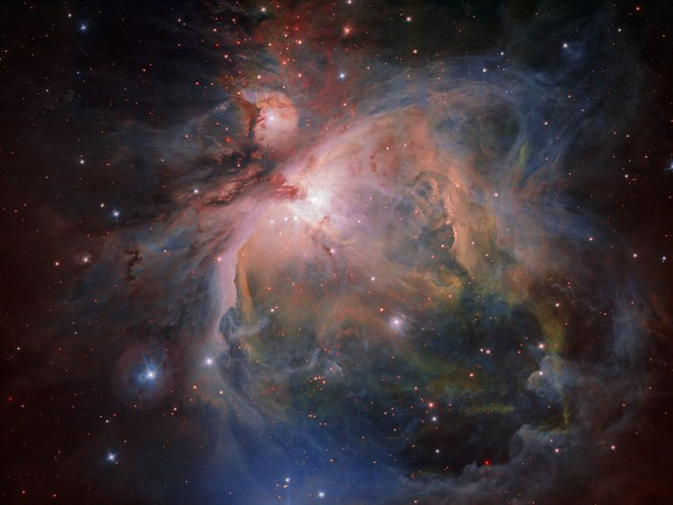 The new image of the spectacular Orion Nebula and its associated cluster of young stars. Pic: ESO/G. Beccari