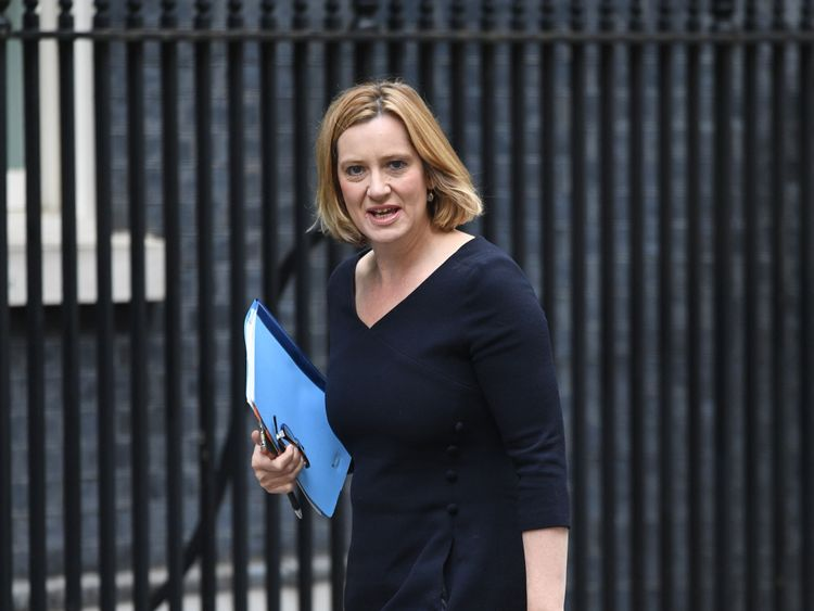 Home Secretary Amber Rudd arrives for a Cabinet meeting in Downing Street