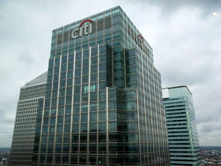 Citigroup's skyscraper headquarters in Canary Wharf