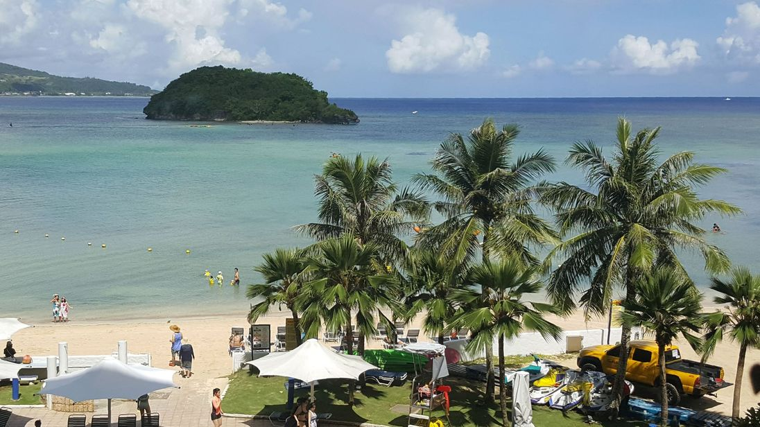 Guam is roughly the size of Chicago and has a population of 162,000