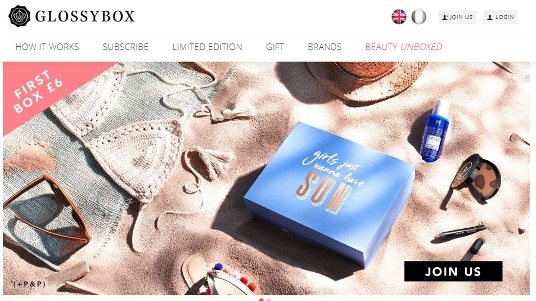 Glossybox is a beauty subscription service