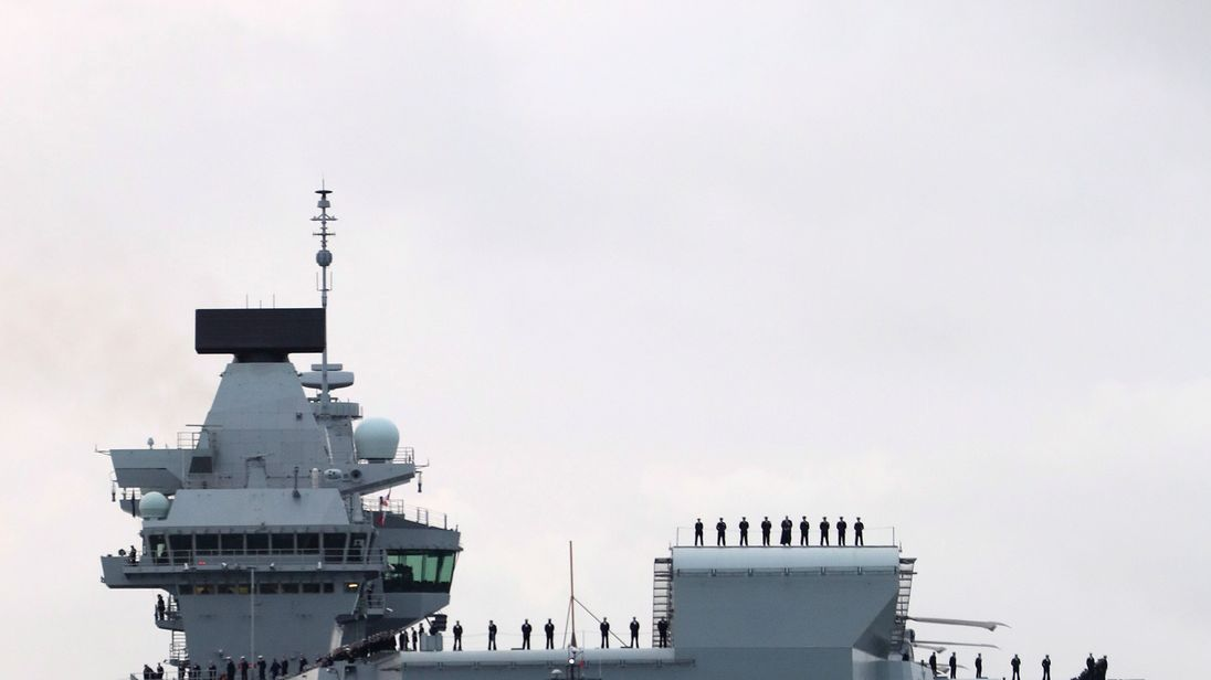 Both the UK's new aircraft carriers will be based in Portsmouth. Pic: MoD