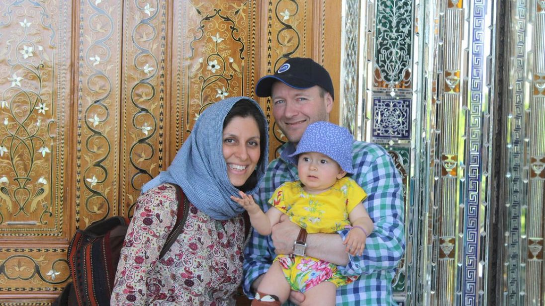 Nazanin Zaghari-Ratcliffe, husband Richard Ratcliffe and their child.