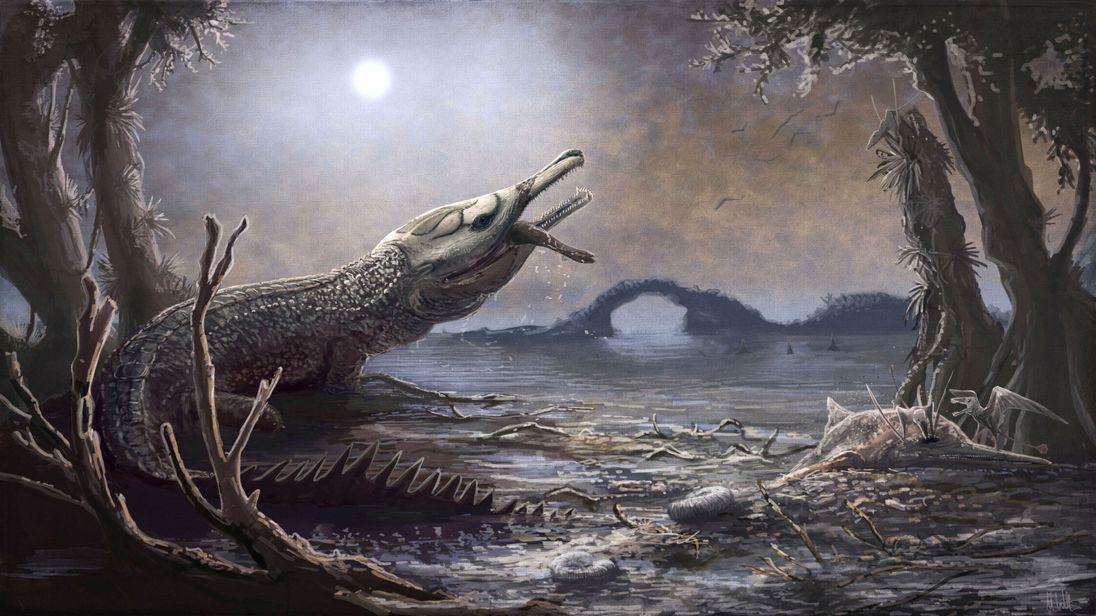 The Jurassic crocodile, Lemmysuchus