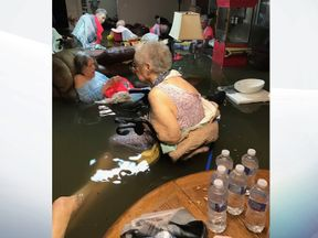 Elderly residents stranded at the La Vita Bella care home in Dickinson, Texas