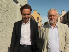 Jeremy Corbyn talks to Sky's Lewis Goodall
