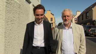 Jeremy Corbyn talks to Sky's Lewis Goodall