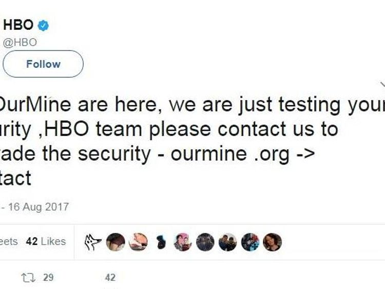 HBO Tweet