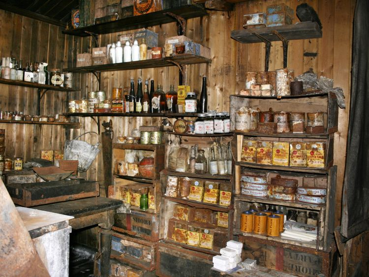 The Terra Nova hut was stocked with supplies for the expedition