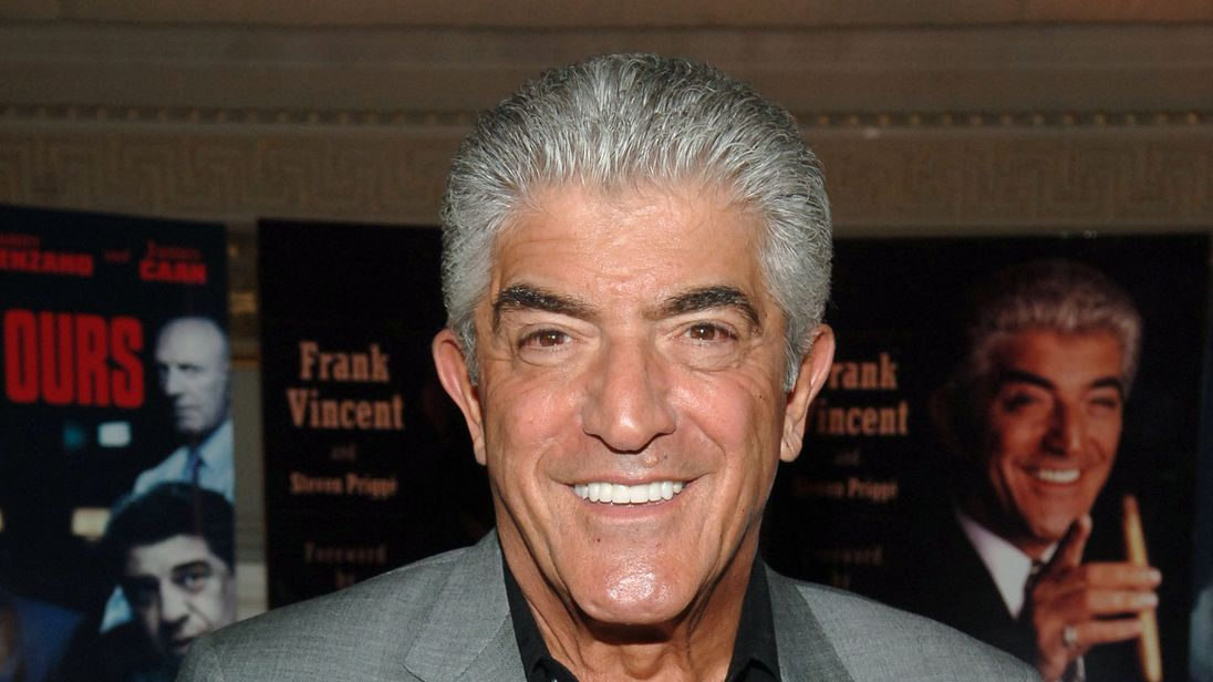 Actor Frank Vincent arrives at the celebration for his new book A Guy's Guide To Being a Man's Man