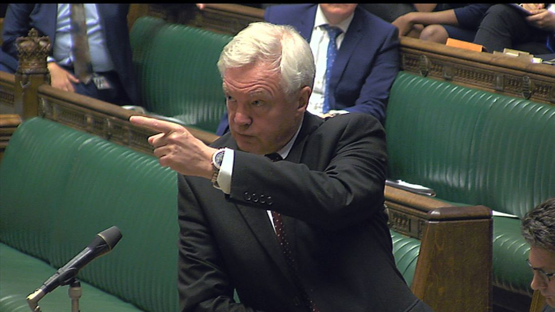 David Davis makes a statement in the House of Commons about the Brexit bill