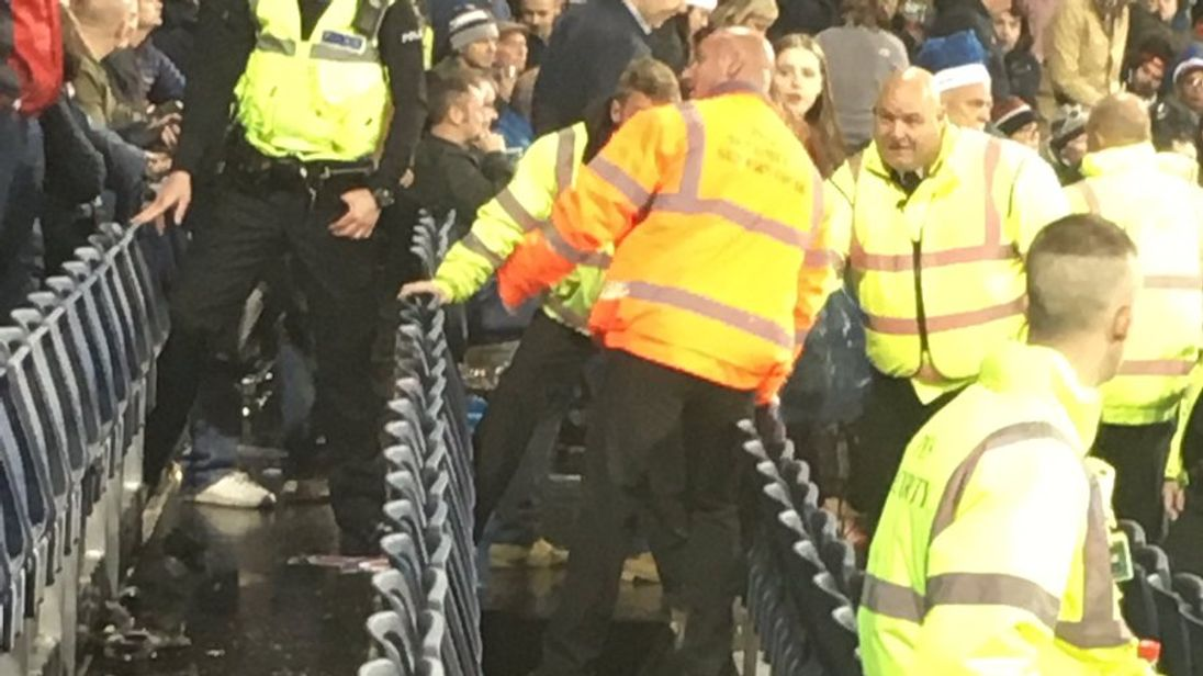 The hole was guarded by stewards, who moved people to another area. Pic: Christian Ceriso