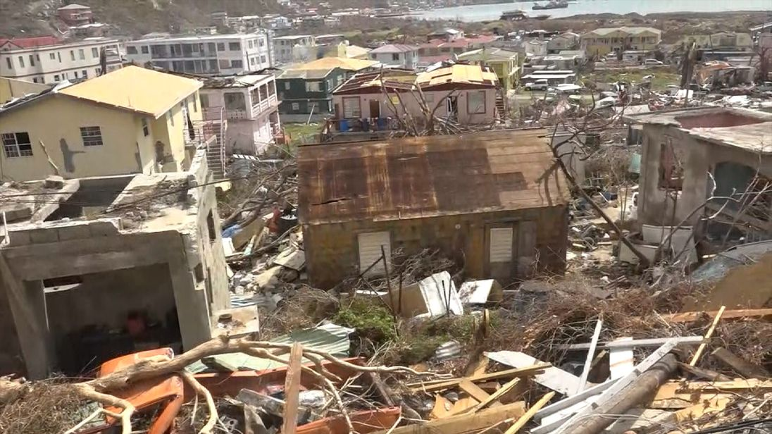 The destruction caused by Irma on Tortola