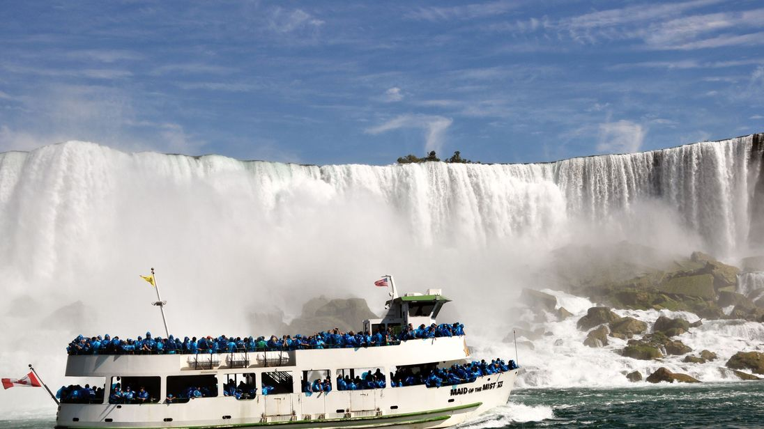 File pic: One of the famous Maid of the Mist tour boats at Niagara Falls