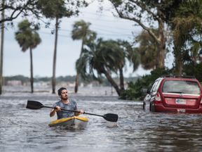 Streets were submerged and transport routes blocked in the storm