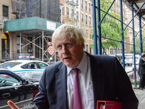 Boris Johnson arrives at the UN in New York