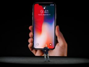 Apple Senior Vice President Phil Schiller introduces the iPhone X