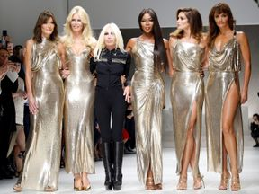 Each of the models had worked closely with Gianni Versace during his career
