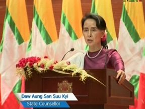 Aung Aung San Suu Kyi's television address