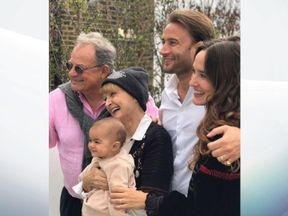 Tessa Jowell and her family