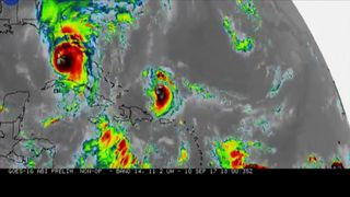 NASA animation shows the growth and path of Caribbean hurricanes over a ten day period