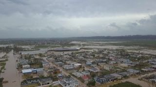Toa Baha in Puerto Rico was left flooded after Hurricane Maria