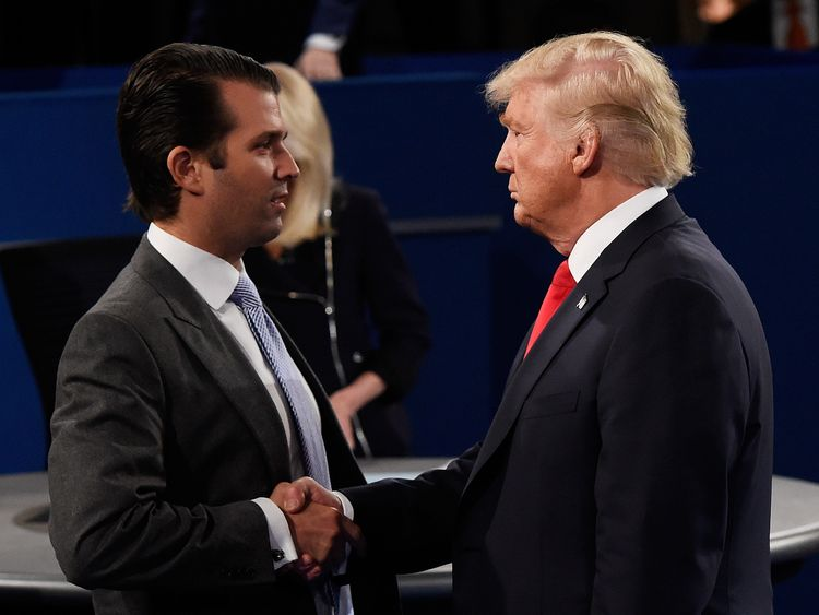 Donald Trump and his son Donald Trump Jr