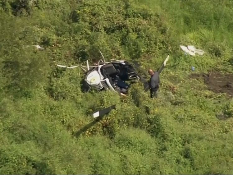 Troy Gentry's helicopter came down in a field in New Jersey hours before a concert.