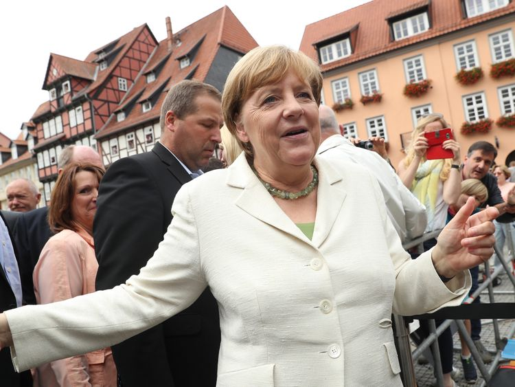 Angela Merkel has been German Chancellor since 2005
