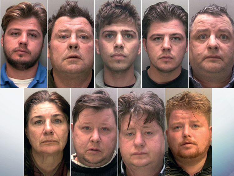 (Clockwise from top left) Patrick Rooney '85, Martin Rooney Snr, Martin Rooney, John Rooney '85, John Rooney '64, Peter Doran, Lawrence Rooney, Gerard Rooney, Bridget Rooney