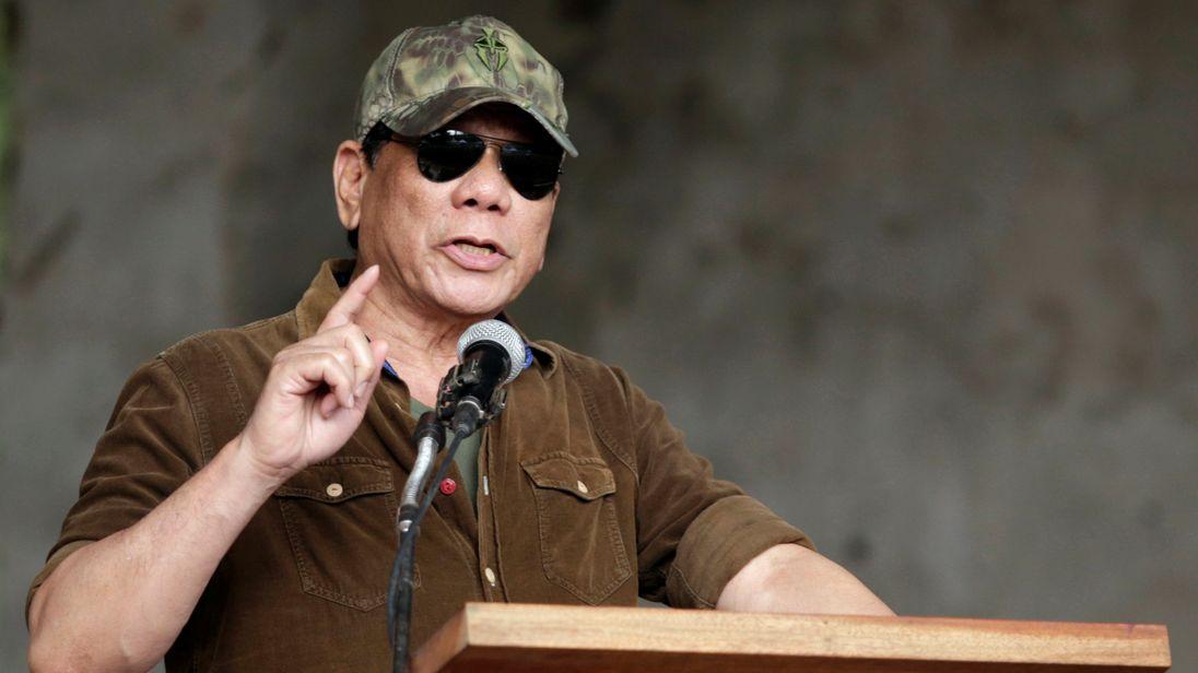 Mr Duterte vowed that 100,000 people would die in his crackdown on drugs