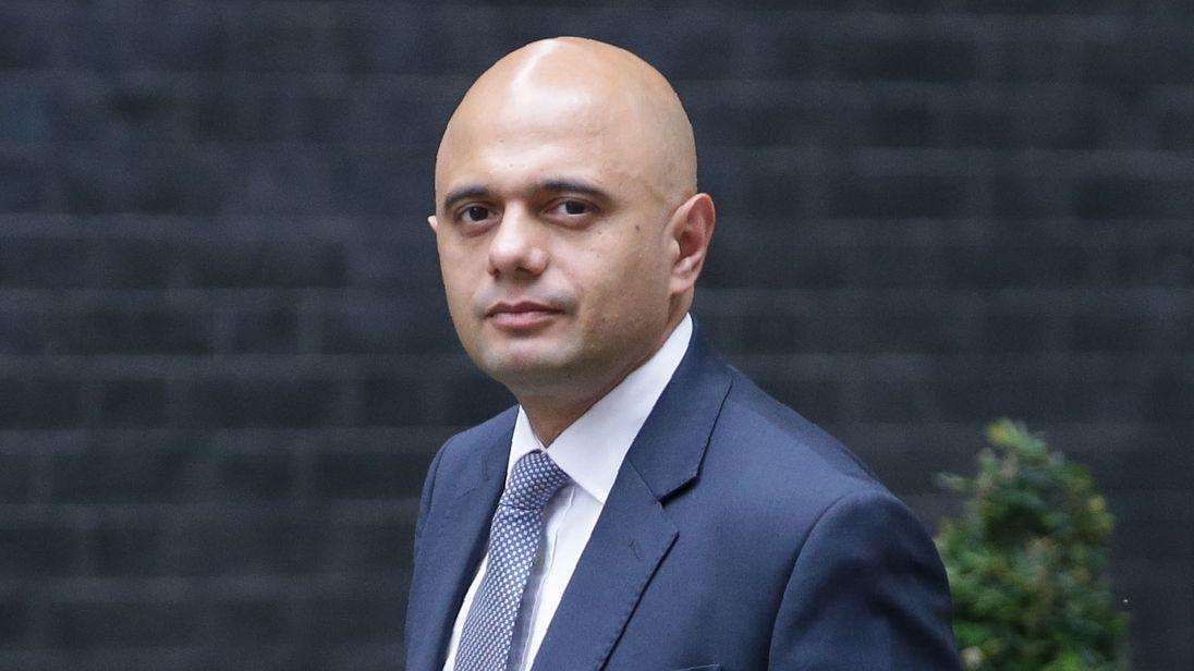 Britain's Communities and Local Government Secretary Sajid Javid