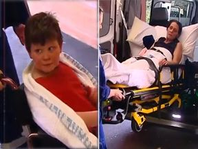 A mum and her son have been rescued after surviving for 10 days in Australian bushland with no food