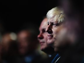 Boris Johnson in the audience at the Conservative party conference