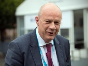 First Secretary of State Damian Green arrives for the first day of the annual Conservative Party conference
