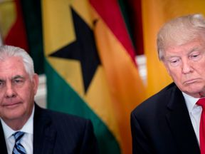 Mr trump has said he is not 'undermining' Secretary of State Rex Tillerson