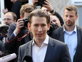 Austrian Foreign Minister and leader of the conservative Austrian People's Party (OeVP) Sebastian Kurz