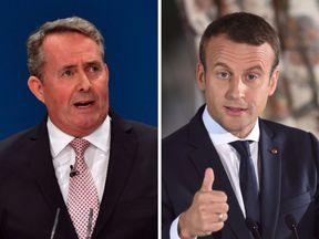 Liam Fox and Emmanuel Macron