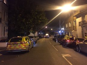 A police cordon near Parsons Green Tube station following a fatal stabbing
