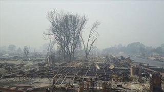 Drone footage shows the devastation in Santa Rosa