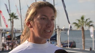 Dee Caffari is skippering the Turn The Tide On Plastic team in the yacht race sponsored by Volvo
