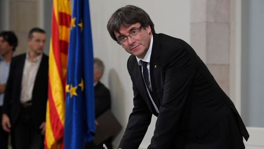 Catalan regional government president Carles Puigdemont