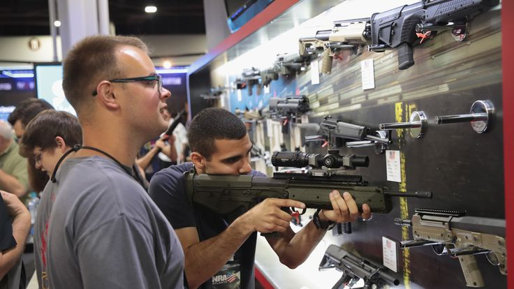 National Rifle Association members visit exhibitor booths