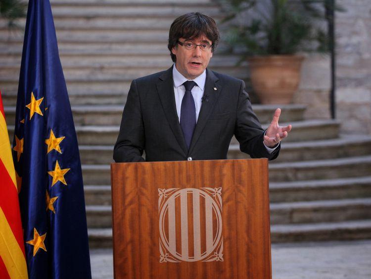 Sacked Catalan President Carles Puigdemont