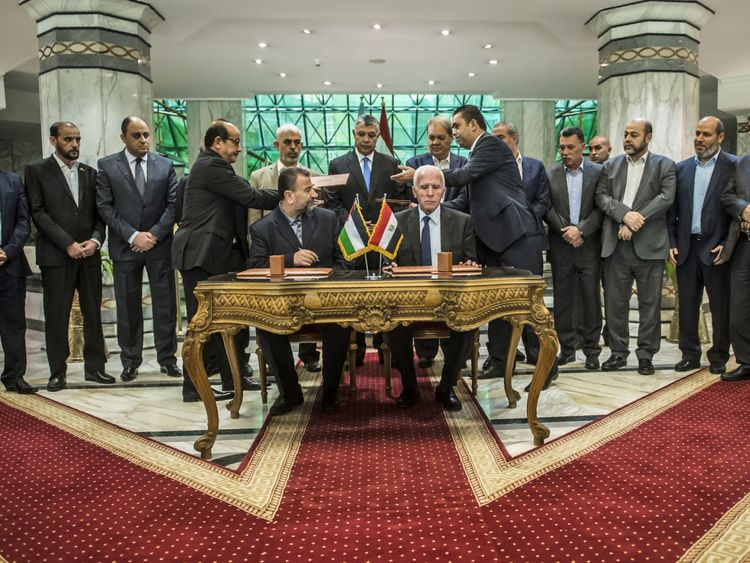Representatives of both parties appeared at talks in Cairo on Thursday