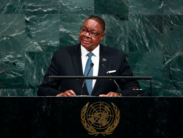 Malawi's President Arthur Peter Mutharika