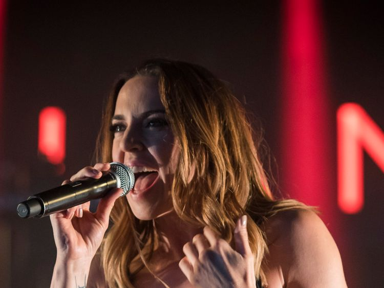 Mel C performing in her new video for Room For Love