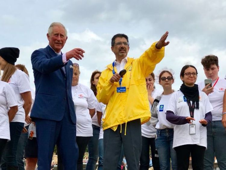 Prince Charles helps release turtles in Malta