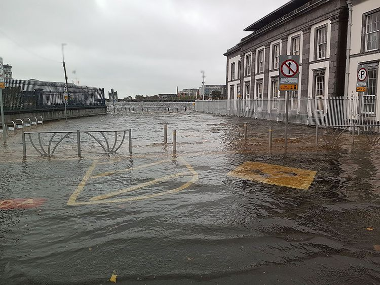 Merchant's Quay Plaza was one of the places flooded in Limerick